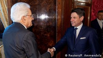 Italiens Präsident Mattarella trifft Premierminister Conte im Quirinal Palace in Rom (Reuters/F. Ammendola)