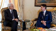 Italiens Präsident Mattarella trifft Premierminister Conte im Quirinal Palace in Rom