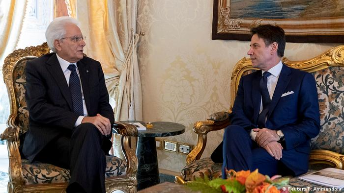 Italiens Präsident Mattarella trifft Premierminister Conte im Quirinal Palace in Rom (Reuters/F. Ammendola)