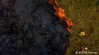Área atingida por queimada em Rondônia, em foto de agosto de 2019
