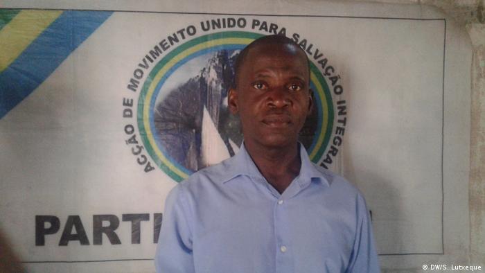 Mário Albino, líder do partido AMUSI