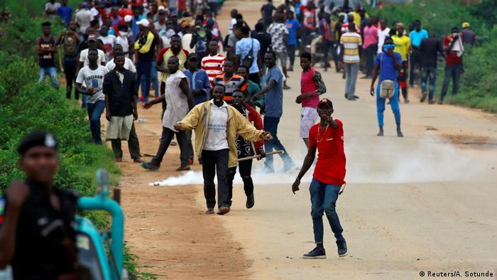 Demonstranten in der Hauptstadt Abuja