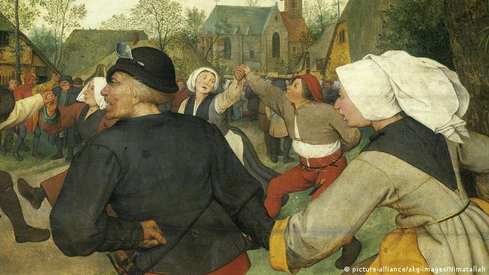 painting by Pieter Bruegel the Elder, men and women dancing (picture-alliance/akg-images/Nimatallah)
