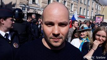 Оппозиционный активист Андрей Пивоваров из Санкт-Петербурга