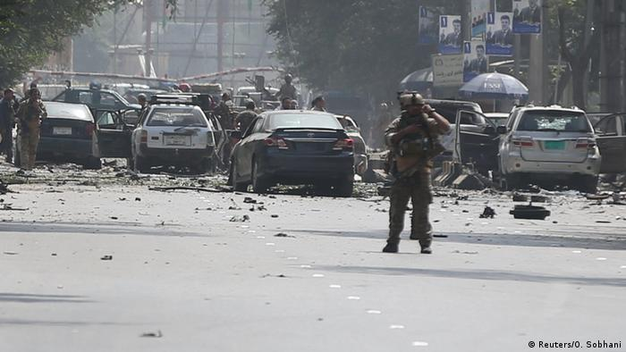 Afghanistan Selbstmordanschlag in Kabul (Reuters/O. Sobhani)