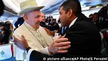Papst Franziskus auf dem Weg nach Mosambik