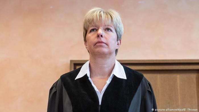 Anke Grudda, die vorsitzende Richterin im Lügde-Prozess (Foto: picture-alliance/dpa/B. Thissen)