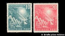 70-jähriges Jubiläum der Briefmarken der Bundesrepublik Deutschland Copyright: Briefmarken Holsten