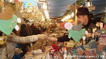 Ein Stand auf dem Weihnachtsmarkt Nürnberg