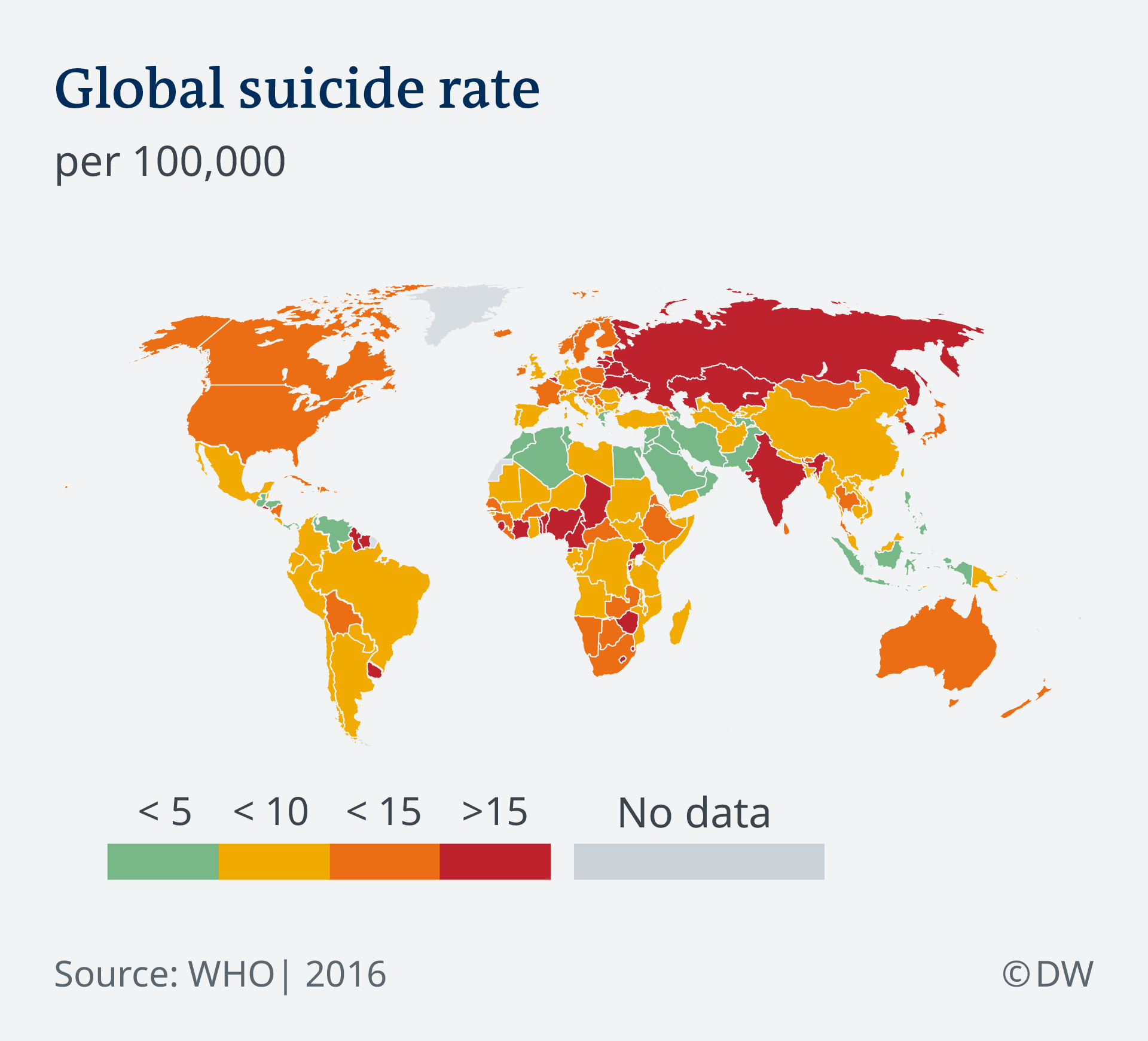 infographic showing global suicide rate