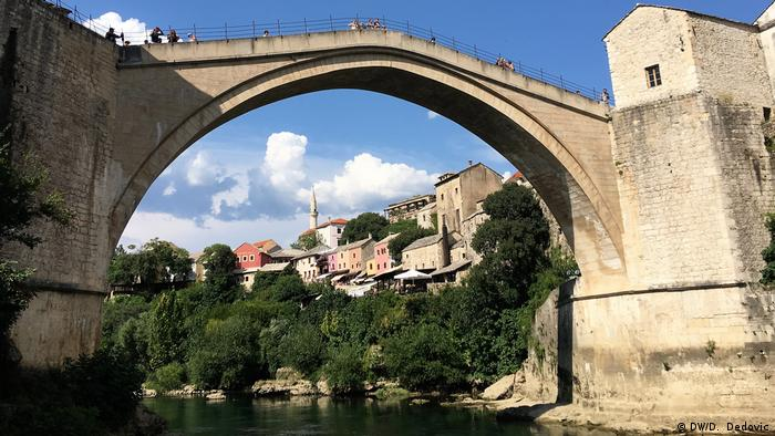 The iconic Stari Most (Old Bridge) in Mostar, Bosnia and Herzegovina (DW/D. Dedovic)