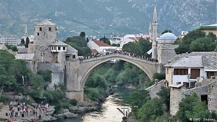 Bosnien und Herzegowina   Mostar am Vorabend