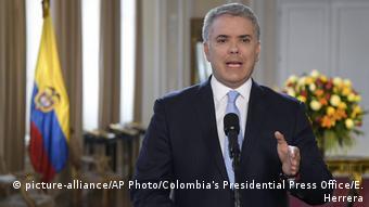 Kolumbien Präsident Ivan Duque