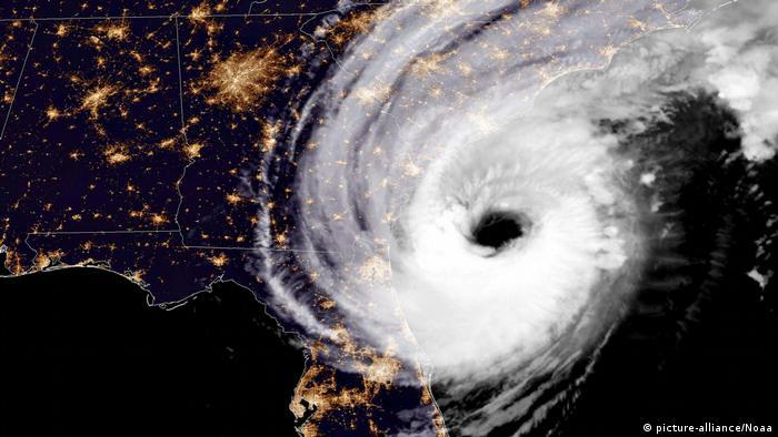 Hurricane Dorian seen from space