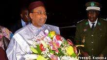 Ankunft des nigerianischen Präsidenten Mamadou Issoufou in Kinshasa im Kongo.