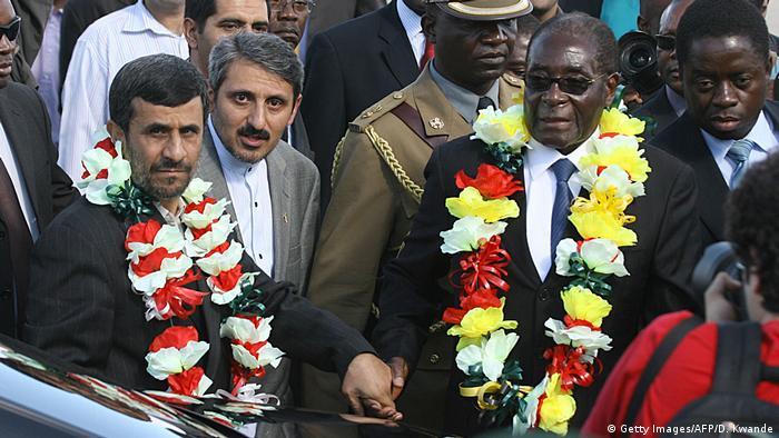 دیدار محمود احمدینژاد از زیمبابوه در سال ۲۰۱۰
