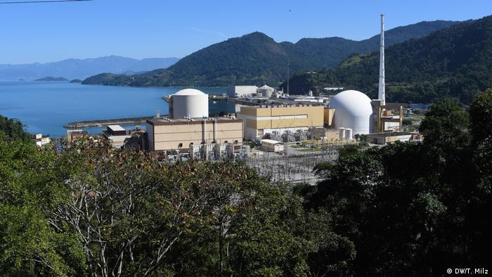 Centrales nucleares Angra 1 y Angra 2, en Angra dos Reis, Brasil.