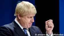 Conservative Party Conference on 02/10/2016 at Birmingham ICC, Birmingham. Persons pictured: Boris Johnson, Secretary of State for Foreign and Commonwealth Affairs, addresses the conference on the first day .  