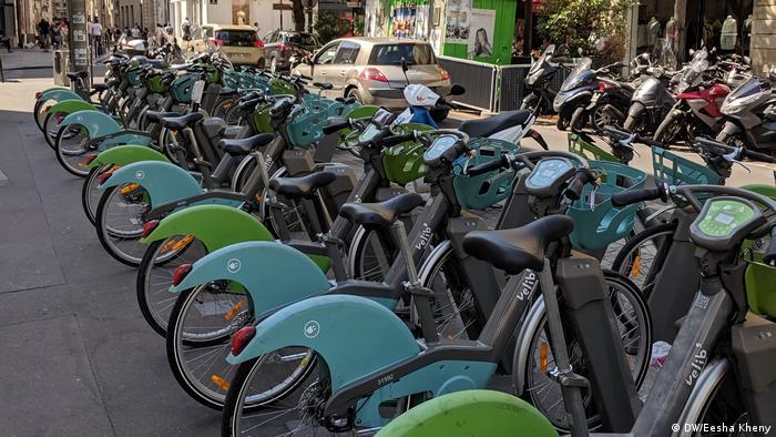 Bicicletas elétricas de aluguel em Paris