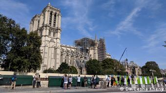 Notre Dame Cathedral under reconstruction