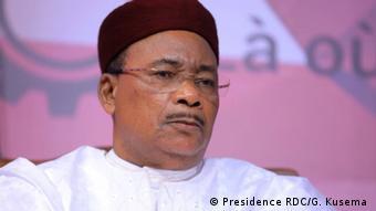 Mahamadou Issoufou, président en exercice de la Communauté économique des Etats de l'Afrique de l'ouest (Cédéao)