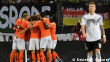 Soccer Football - Euro 2020 Qualifier - Group C - Germany v Netherlands - Volksparkstadion, Hamburg, Germany - September 6, 2019 Netherlands' Frenkie de Jong celebrates scoring their first goal with team mates REUTERS/Fabian Bimmer