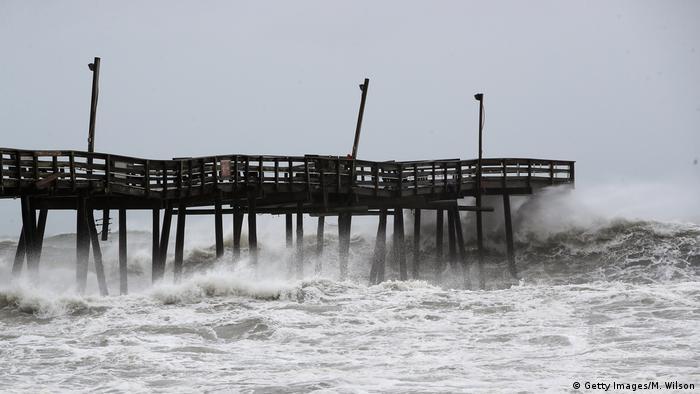 USA - North Carolina- Hurricane Dorian in Pea Island