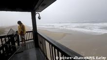Unwetter durch Hurricane Dorian auf Hatteras Island