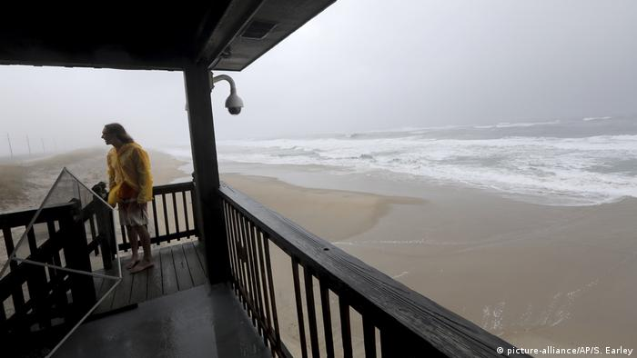 Hatteras Island, North Carolina, on Friday as Hurricane Dorian passes over.