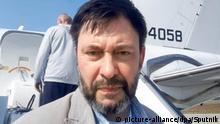 Ukraine Kiew Journalist Kirill Vyshinsky bei Gefangenenaustausch mit Russland