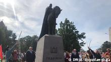 Weißrussland Enthüllung Denkmal Großfürst Gedimin in Lida