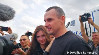 Олег Сенцов с дочерью Алиной