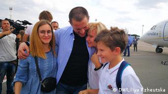 Роман Сущенко с семьей
