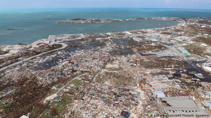 Devastation on Abaco Island seen from the air