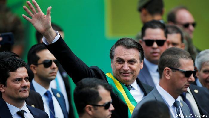 O presidente Jair Bolsonaro durante desfile do Dia da Independência