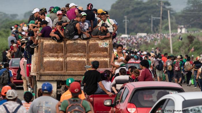 Central American a caravan headed north