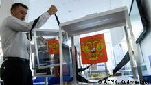 Russland Moskau vor den Kommunal- und Regionalwahlen