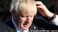 Britain's PM Boris Johnson visits West Yorkshire