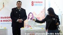 Russland Moskau Kommunal- und Regionalwahlen