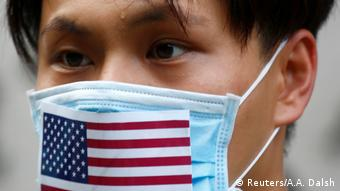 Hongkong Proteste mit US-Flagge (Reuters/A.A. Dalsh)