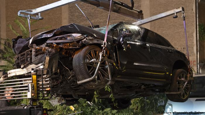 Porsche SUV after the deadly accident in Berlin