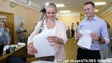Russland Moskau Nawalny bei Kommunal- und Regionalwahlen