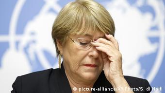 Bachelet pidió al Gobierno nicaragüense que investigue de forma urgente esos crímenes. (picture-alliance/AP Photo/S. di Nolfi)