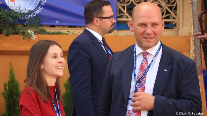 Szymon Szynkowski vel Sęk jako uczestnik Forum Ekonomicznego w Krynicy