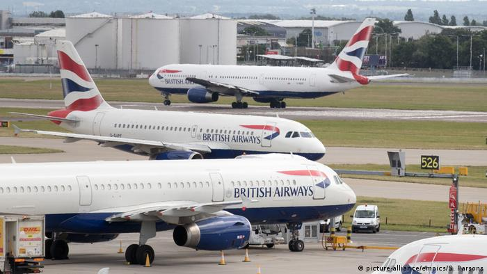 Самолеты British Airways в лондонском аэропорту