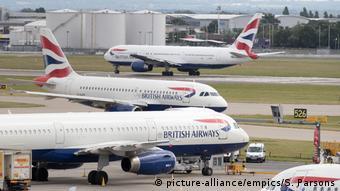 London Heathrow Airport British Airways aircrafts