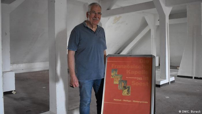 Werner Liedmann von der Geschichtswerkstatt Französische Kapelle (DW/C. Burack)