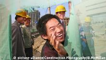 A construction worker in Beijing |