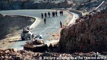 Grenzsoldaten an der jemenitisch-saudischen Grenze