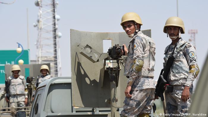 Saudi border forces near Yemen